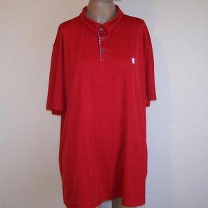 IZOD Golf Polo Shirt XL Mens Red Short Sleeve